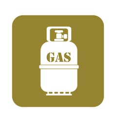 Camping gas bottle icon vector