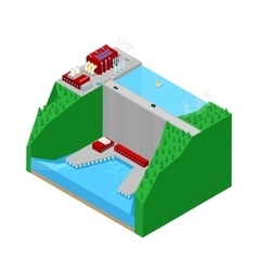 Isometric plant factory power station vector