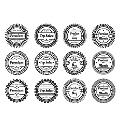 collection of authentic labels vector image