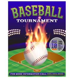 Baseball tournament flyer 3 vector