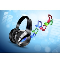 Modern big headphones vector