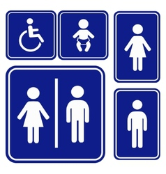 Toilette sign vector