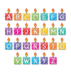 Alphabet candles vector