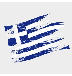Color greece national flag grunge style eps10 vector