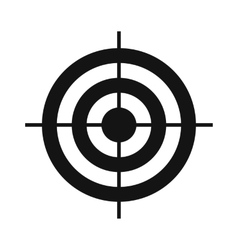 Target simple icon vector