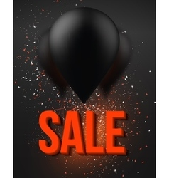 Balloon sale poster with explosion effect big vector
