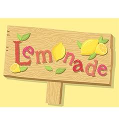 Lemonade Sign Board vector image