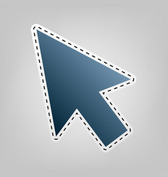Arrow sign blue icon with vector