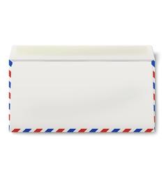 Backside of opened dl air mail envelope inside vector