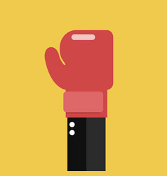 Businessman hand with boxing glove vector