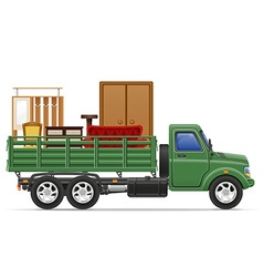 cargo truck concept 10 vector image vector image