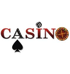 casino roulette black vector image vector image