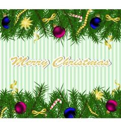 Christmas background with fir tree vector