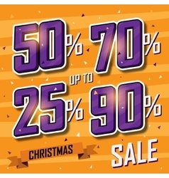 Christmas sale banner sales discount vector image vector image