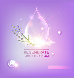 Cosmetic oil lotion vector