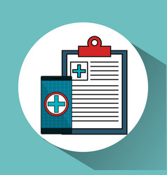 Digital healthcare technology icon vector