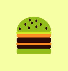 Double cheeseburger hamburger icon burger vector