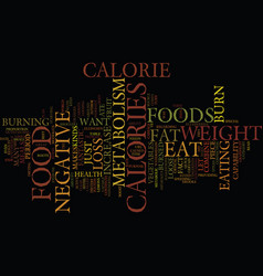 Foods that increase your fat metabolism text vector