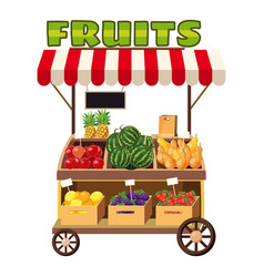 Fruit mobile snack icon cartoon style vector