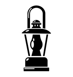 Gas lamp icon simple style vector