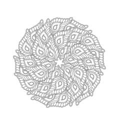 Graphic mandala with many decorative petals vector