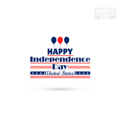 happy independence day united states vector image vector image