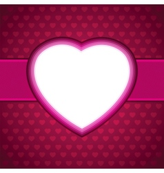 Heart Valentines day card background EPS 8 vector image vector image