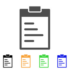 Inventory pad flat icon vector