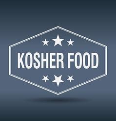 Kosher food hexagonal white vintage retro style vector