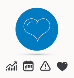 Love heart icon life sign vector