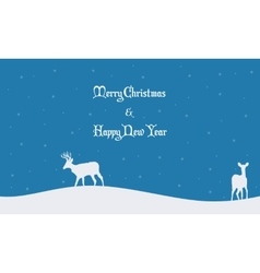 Merry christmas scenery winter collection vector