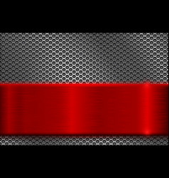 Metal perforated background with square holes vector