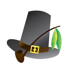 Pilgrim hat vector
