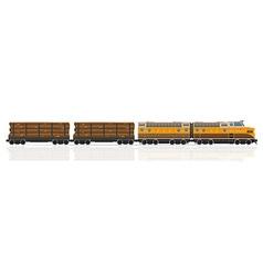 Railway train 09 vector