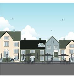 Restaurants in the city vector image vector image