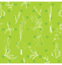 Salad vegetables seamless pattern vector image vector image