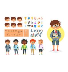 School boy character generator vector
