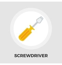 Screwdriver icon flat vector
