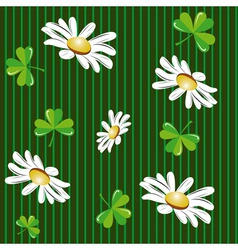 seamless background with camomiles vector image