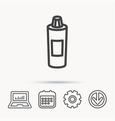Shampoo bottle icon liquid soap sign vector