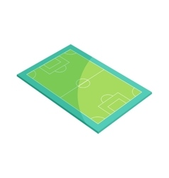 Soccer field icon in cartoon style vector