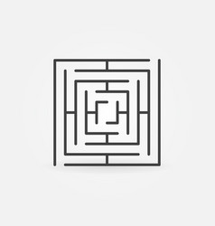 Square labyrinth icon vector