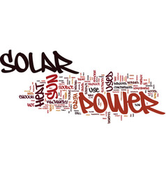 The benefits of solar power text background word vector