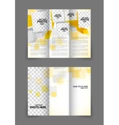 Tri-fold brochure in orange color vector