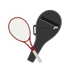 Tennis racket equipment icon vector