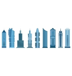 Skyscraper icons isolated on white background vector