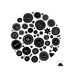 Buttons collection sketch for your design vector