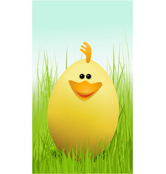 Easter funny chicken vector