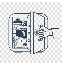Concept of a diet safe refrigerator vector