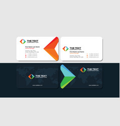 Business cards for tour operator and travel agent vector